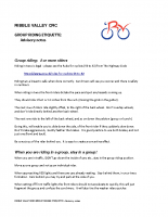 RIBBLE VALLEY CRC – GROUP RIDING ETIQUETTE (Advisory-notes)